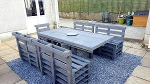 Pallet Patio Recycled Dining Set Diy Furniture Plans