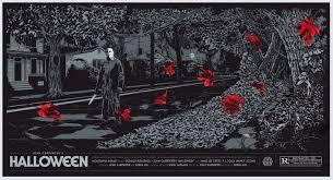Halloween Jamie Lee Curtis Death by He U0027s On His Way Home Alternative Halloween Poster Art That