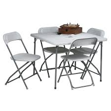 5-piece Resin Folding Table And Chair Set Meco Sudden Comfort Deluxe Double Padded Chair And Back 5 Piece Square White Table And Multi Color Set Cecilia Folding Tablechair Shopko Chairs At Office Max Cosco 5piece Vinyl Bridgeport 32inch Wood Card 48 Black Ding Amazoncom Mid Century Modern Gatefold Two Kids Multiple Colors Card Table Chairs Amazon Avalonmasterpro Sturdy Game Poker Walmartcom