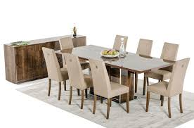 Memphis Italian Formal Dining Room Set Table Base With Eight Chairs