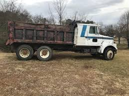 1986 White Dump Truck With Sleeper Cab