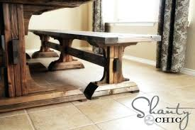 Diy Dining Room Table With Bench Build Your Own Farmhouse Free Plans