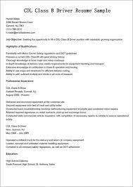 Truck Driver Resume Samples Cdl Job Description For Example