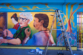 frankie foto colorful murals in chicano park and meeting an artist