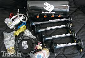 HornBlasters Train Horn Kit - Air Tank - Truckin' Magazine Tips On Where To Buy The Best Train Horn Kits Horns Information Truck Horn 12 And 24 Volt 2 Trumpet Air Loudest Kleinn 142db Air Compressor Kit230 Kit Kleinn Velo230 Fits 09 Hornblasters Hkc3228v Outlaw 228v Chrome 150db Air Horn Triple Tubes Loud Black For Car Universal 125db 12v Silver Trumpet Musical Dixie Duke Hazzard Trucks 155db 200psi Viair System Conductors Special How Install Bolton On A 2010 Silverado Ram1500230 Ram 1500 230 With 150psi Airchime K5 540