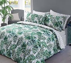 housse de couette amazone housse de couette taie d oreiller motif feuilles de palmier