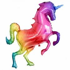 Giant Rainbow Glitter Unicorn Foil Balloon