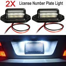 100 Truck License 2x 12V 6LEDs Universal Number Plate Light Lamps For Boats