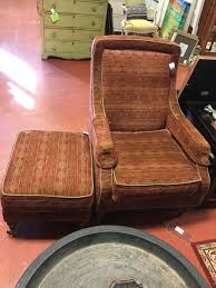 Vanguard Rust Green Brown Chair & Ottoman