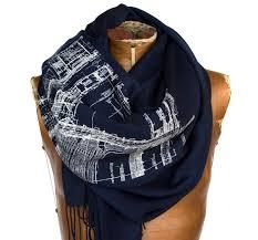 blueprint scarf architect gift detroit architecture