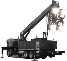 Night Lights For TV & Movie Production | 96kW HMI Boom Truck | DADCO