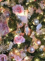 Rose Gold Christmas Tree Decorations White Extraordinary Decoration Decorating Ideas