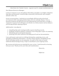 Cover Letter For Government Position