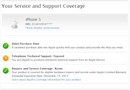 Check iPhone Purchase Date Warranty Repairs & Service Status line