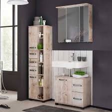 set badezimmer möbel in eiche grau mosnito 3 teilig