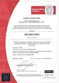 bureau veritas certifications cartedozio