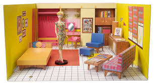Barbie Living Room Furniture Set by Vintage 1962 Reproduction Barbie Dream House U0026 Portable Carrying