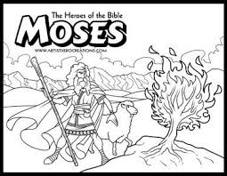 The Heroes Of Bible Coloring Pages Moses And Burning Bush Exodus 3