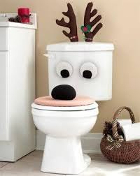 reindeer bathroom toilet seat set lid
