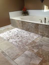 Tiling A Bathtub Skirt by Drop In Tub Surround Skirt 2x6 Subway Stone Tile Brick Lay Love