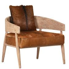 Dovetails Generously Appointed Tazza Chair Mixes Mindi Wood With Goatskin For Rustic Yet Ultimately Sophisticated Styling