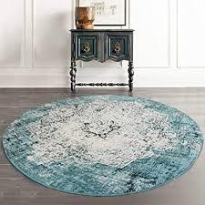 loartee vintage bohemian runde teppich für wohnzimmer esszimmer grün 4 ft 120cm