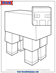 Minecraft Sheep Coloring Page