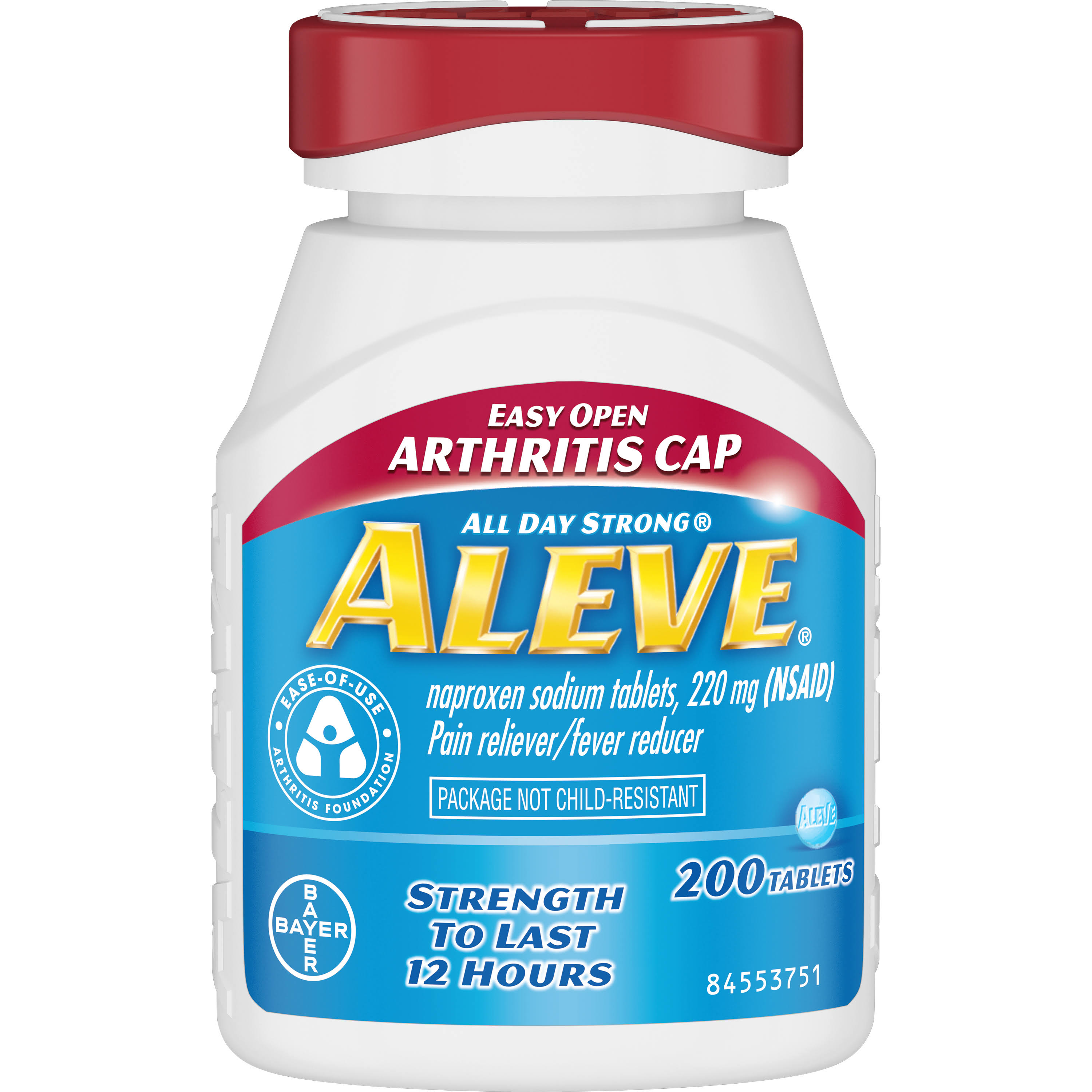 Aleve Tablets with Easy Open Arthritis Pain Reliever - 200ct