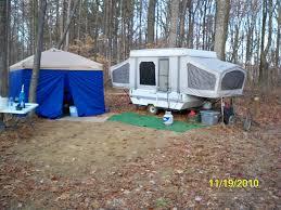 Camping Along A Roadside On The Hoosier NF