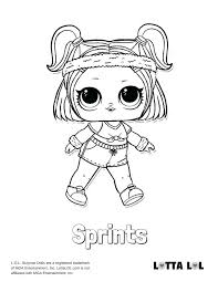 Idea Lol Doll Coloring Pages For Sprints Surprise Page 78