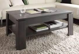 details zu couchtisch mit ablage tisch esche grau wohnzimmer beistelltisch holz universal