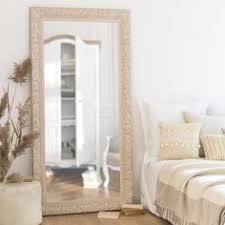 maison du monde si e social miroir en paulownia argenté 90x180 maisons du monde miroir