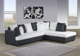 canape d angle noir et blanc canapé d angle genoa2 blanc noir canapé d angle cuir simili cuir