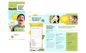 Tri Fold Brochure Template Word 2010 Blank Publisher Trifold