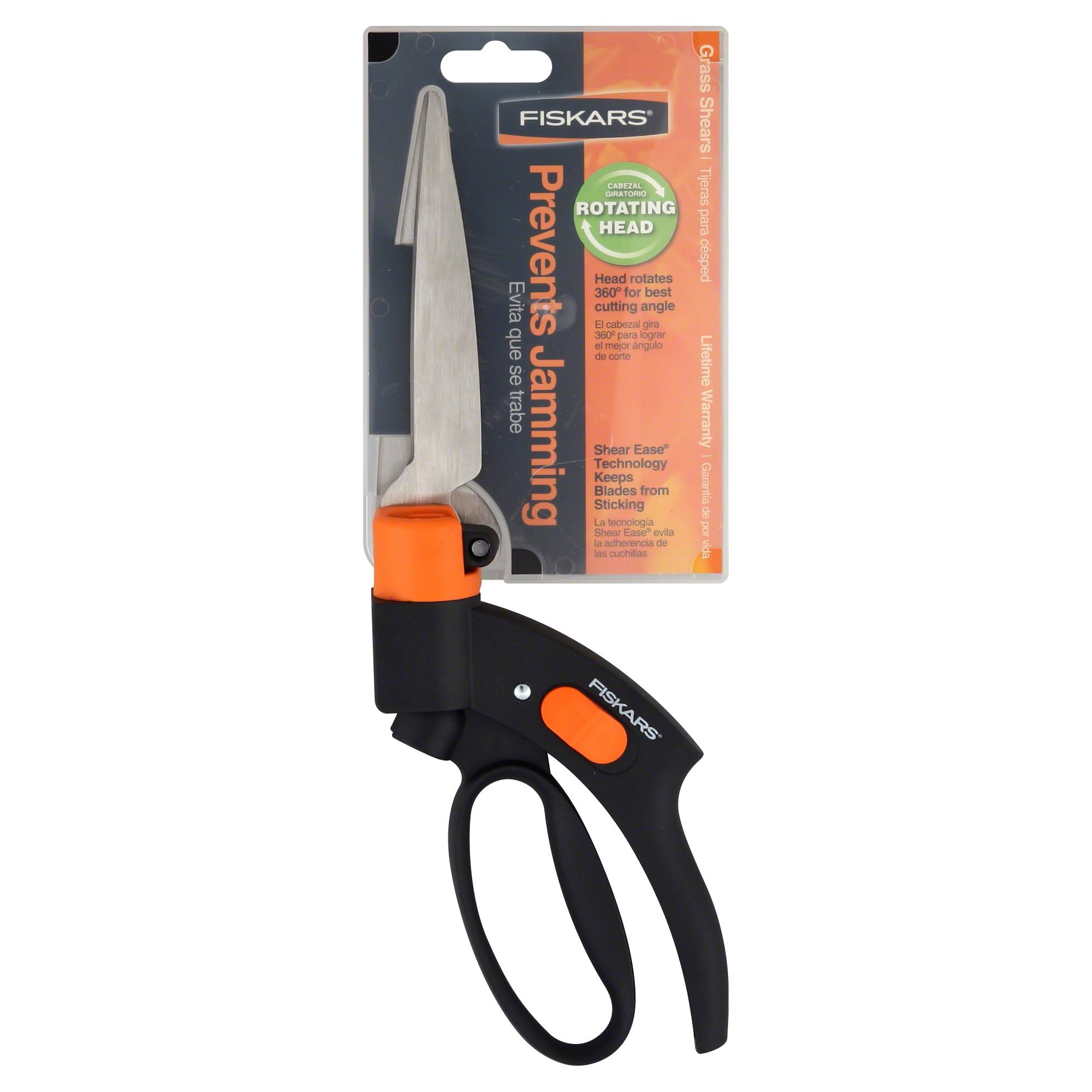 Fiskars Grass Shears - Stainless Steel, Steel Precision Ground Length
