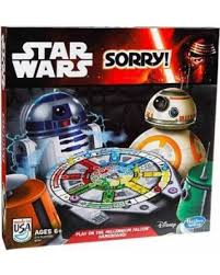 Sorry Star Wars Edition Family Board Game 2014 Disney Hasbro