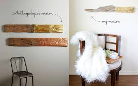 Domestic Bliss Squared DIY Anthropologie Hack Gilded Driftwood Inside Wall Art Remodel 13