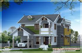 Pitched Roof House Designs Photo by Beautiful Sloping Roof House Design Kerala Home Floor
