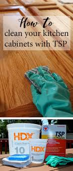 how to clean your kitchen cabinets with tsp weekend craft