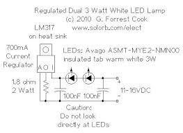 regulated dual 3 watt white led l