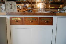 Apothecary Drawers In A 1980s Kitchen