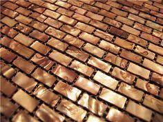 Copper Tiles For Backsplash by Antique Copper Mosaic Tile Backsplash Random Linear Tiles Are