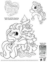 My Little Pony Christmas Holiday Coloring Page