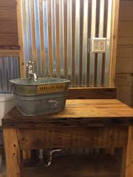 Corrugated Tin Walls With Cypress Vanity And Galvanized Bucket ... Tin Roof Rusted Youtube Best 25 Barn Tin Wall Ideas On Pinterest Walls Galvanized Galvanized Wanscotting For The Home Basements Features Design Corrugated Metal Birdhouse Trim Metal Rug Designs Astonishing Ing Bridger Steel Billings Mt Helena Roof Ceiling Wonderful Garage Panels Project Done Island Future Projects Custom Made Rustic Barn Board And Corrugated Mirror Frame B55485dc0781ba120d1877aa0fc5b69djpg 7361104 Siding Reclaimed Roofing Recycled Vintage Rusty