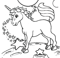 Coloring Pages For Children Combined With Hard Unicorn Kids