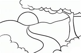 Simple Landscape Coloring Pages