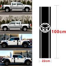 100 Truck Bed Door 2Pcs Car Stripe Skull Decal Racing Stripe Vinyl