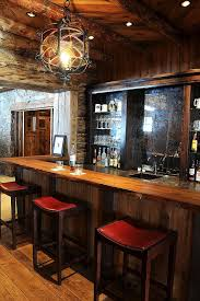 Indoor Home Bar Ideas Rustic With Wet Recessed Lighting
