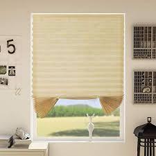 hohouse plissee zum kleben zuschneidbar plissee transparent ohne bohren ohne klemmträgern licht und sohneschutz beige 110x182cm bxh 2er pack