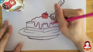 How to draw a piece of cake How to draw tutorials